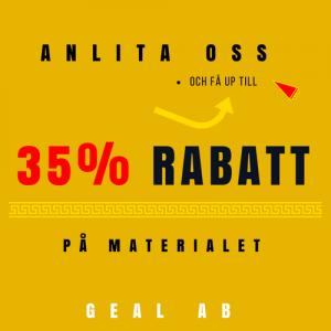 Om Ni anlita oss can Ni få upp till 35% rabatt på materialet (1)