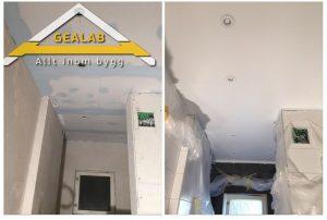 målning på tak
