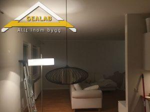 målning av lägenheten