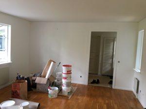 Målning av lägenheten Handen