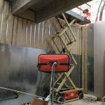 Byggnation av gipsväggar, gjutning av betong